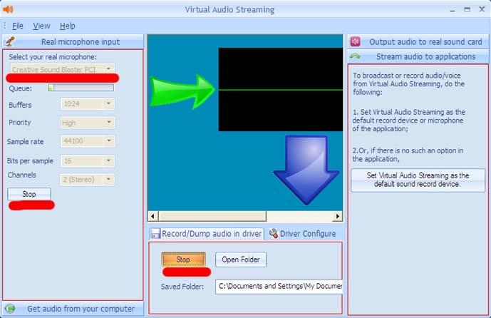 config VAS to record sounds from microphone