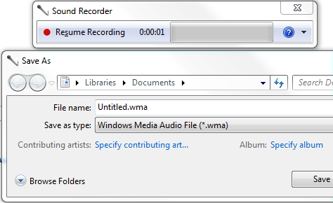 Sound recording with virtual audio streaming software for Window recorder
